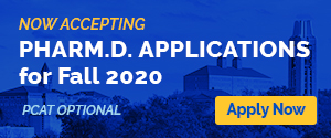 Now accepting Pharm.D. applications for fall 2020